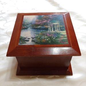 Thomas Kinkade Wooden Jewelry Box